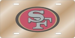 San Francisco 49ers Laser Cut Gold License Plate