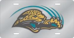 Jacksonville Jaguars Laser Cut Silver License Plate