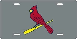 St. Louis Cardinals Laser Cut Silver License Plate