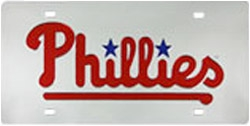 Philadelphia Phillies Laser Cut Silver License Plate