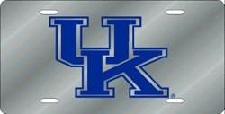 Kentucky Wildcats Silver Laser Cut License Plate