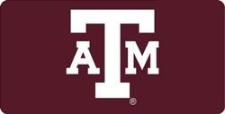 Texas A&M Aggies Red Laser Cut License Plate