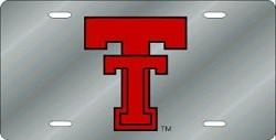Texas Tech Red Raiders Laser Cut Silver License Plate