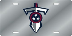 Tennessee Titans Laser Cut Silver Shield & Sword License Plate