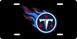 Tennessee Titans Laser Cut Black Flame License Plate