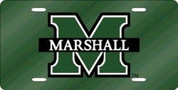 Marshall Thundering Herd Green Laser Cut License Plate