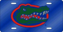 Florida Gators Blue Laser Cut License Plate