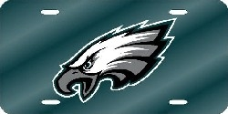 Philadelphia Eagles Laser Cut Green License Plate