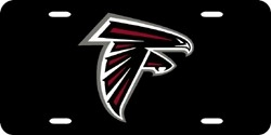 Atlanta Falcons Laser Cut Black License Plate