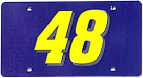 Jimmie Johnson Blue Laser Cut License Plate
