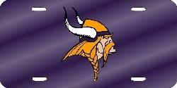Minnesota Vikings Laser Cut Purple License Plate