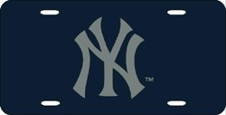 New York Yankees Laser Cut Blue License Plate