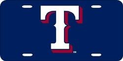 Texas Rangers Laser Cut Blue License Plate