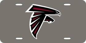 Atlanta Falcons Laser Cut Silver License Plate