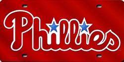 Philadelphia Phillies Laser Cut Red License Plate