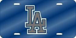 Los Angeles Dodgers Laser Cut Blue License Plate
