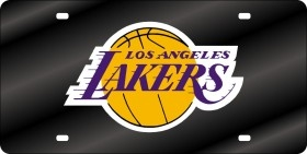 Los Angeles Lakers Laser Cut Black License Plate