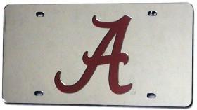 Alabama Crimson Tide Laser Cut Silver License Plate
