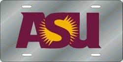 Arizona State Sun Devils Silver Laser Cut License Plate