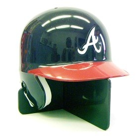 Atlanta Braves Right Flap Mini Batting Helmet
