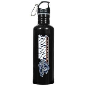 Nashville Predators 1 Liter Black Aluminum Water Bottle