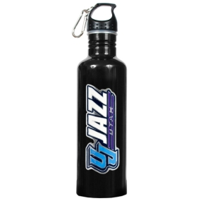 Utah Jazz 1 Liter Black Aluminum Water Bottle