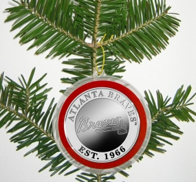 Atlanta Braves Silver Coin Ornament