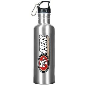 San Francisco 49ers 34oz Silver Aluminum Water Bottle