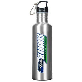 Seattle Seahawks 34oz Silver Aluminum Water Bottle