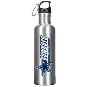 Dallas Cowboys 34oz Silver Aluminum Water Bottle