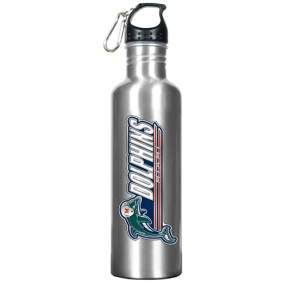 Miami Dolphins 34oz Silver Aluminum Water Bottle