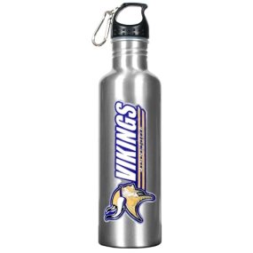 Minnesota Vikings 34oz Silver Aluminum Water Bottle
