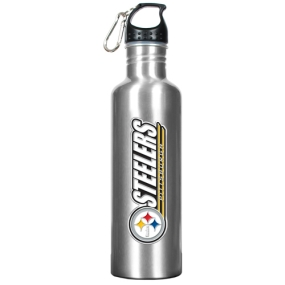 Pittsburgh Steelers 34oz Silver Aluminum Water Bottle