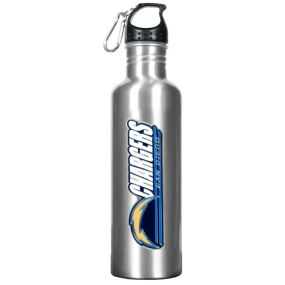 San Diego Chargers 34oz Silver Aluminum Water Bottle