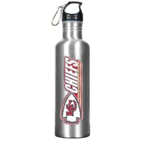 Kansas City Chiefs 34oz Silver Aluminum Water Bottle