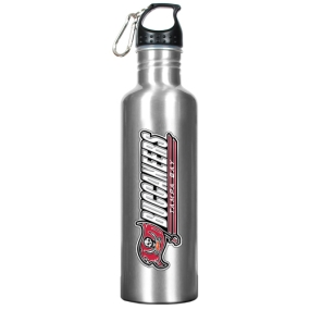 Tampa Bay Buccaneers 34oz Silver Aluminum Water Bottle