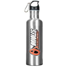 Baltimore Orioles 34oz Silver Aluminum Water Bottle