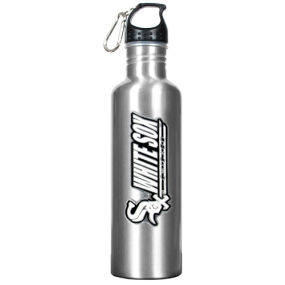 Chicago White Sox 34oz Silver Aluminum Water Bottle