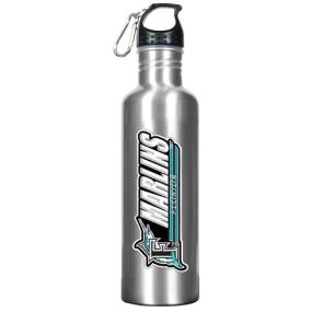 Florida Marlins 34oz Silver Aluminum Water Bottle