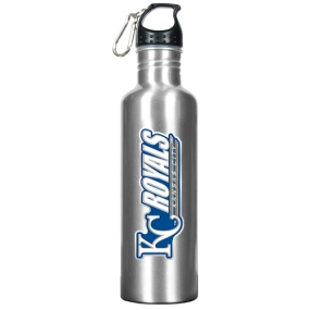 Kansas City Royals 34oz Silver Aluminum Water Bottle