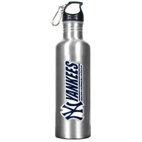 New York Yankees 34oz Silver Aluminum Water Bottle