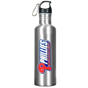 Philadelphia Phillies 34oz Silver Aluminum Water Bottle