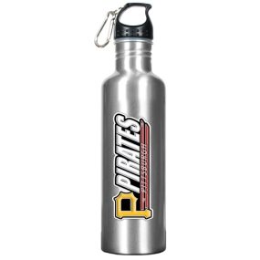Pittsburgh Pirates 34oz Silver Aluminum Water Bottle