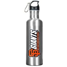 San Francisco Giants 34oz Silver Aluminum Water Bottle