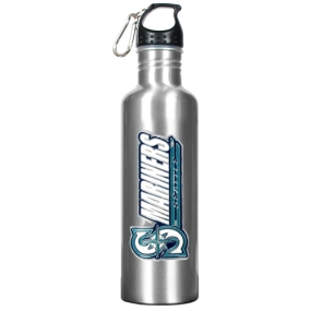 Seattle Mariners 34oz Silver Aluminum Water Bottle