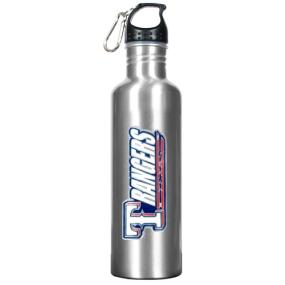 Texas Rangers 34oz Silver Aluminum Water Bottle