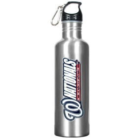 Washington Nationals 34oz Silver Aluminum Water Bottle