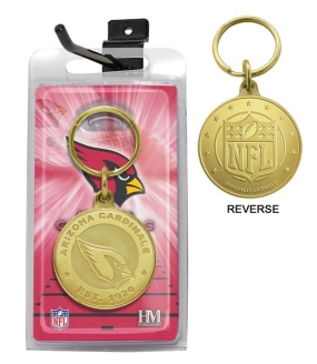 Arizona Cardinals Bronze Bullion Keychain