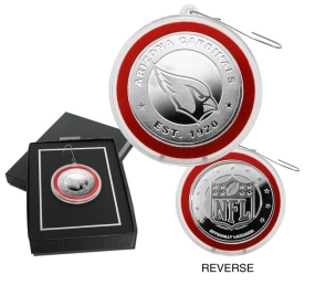 Arizona Cardinals Silver Coin Ornament