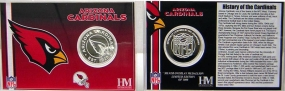Arizona Cardinals NFL Team History Coin Card